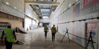 Broadmarsh under construction.