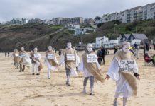 G7 Carbis Bay protest